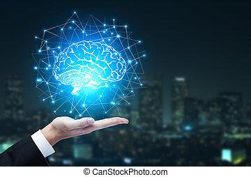 künstliche intelligenz, und, innovation, begriff