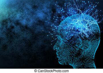 künstliche intelligenz, und, vernetzung, begriff