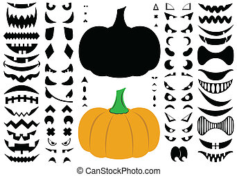 kürbise, halloween, abbildung