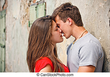 küssende , paar