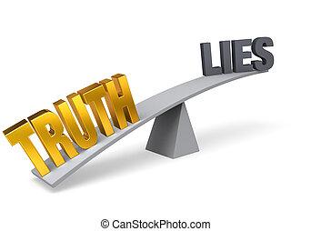 kłamstwa, outweighs, prawda