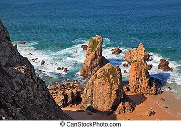 kő, bizarr, homokkő
