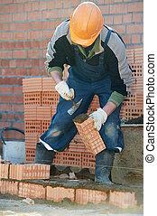 kőműves, szerkesztés munkás, kőműves