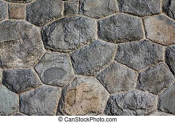 kőművesség, terméskővel burkol