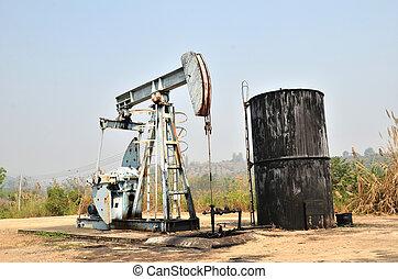 kőolaj, forrás, szivattyúzás, pumpjack