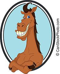 kůň, karikatura