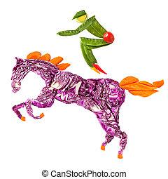 kůň, rider.