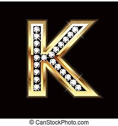 K bling letter