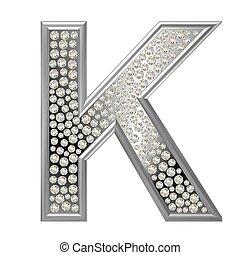 k, diamante, carácter