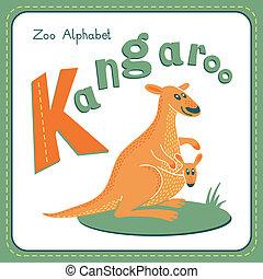 k, -, känguru, brev