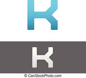 K Letter Alphabet Abstract vector text logo