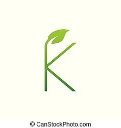 k, logo, blatt, brief, entwerfen elemente