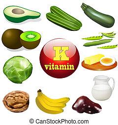 k, prodotti, vitamina, animale, pianta