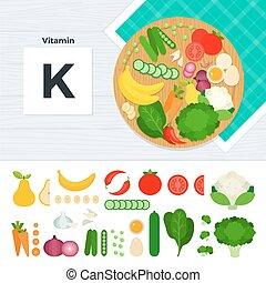 k, producten, vitamine