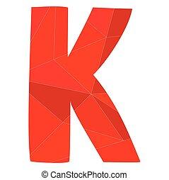 K red alphabet vector letter
