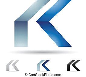 k, resumen, carta, icono