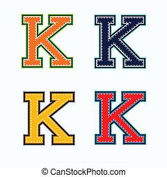 k, università, lettera