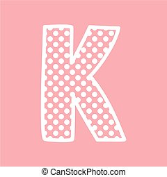 K vector alphabet letter with dots