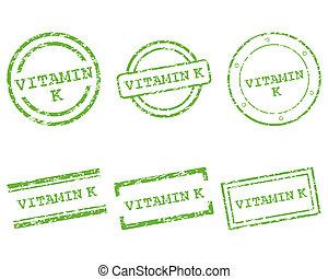k, vitamine, postzegels