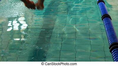 kałuża, atak, pływać, nurkowanie, człowiek