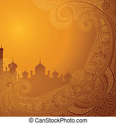 ka, mubarak, ), luna, (wish, eid, plano de fondo, chand, ...