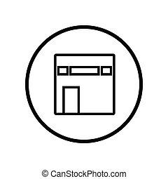 kaaba, icon-vector, 画像的, イスラム教, デザイン, アイコン