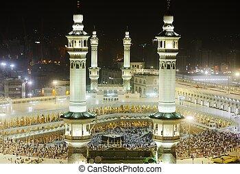 kaaba, makkah, minaretes