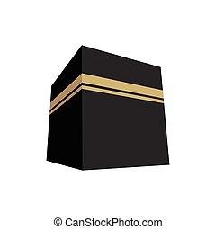 Kaaba Vector Illustration Flat Design