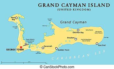 kaaiman, eiland, politiek, voornaam, kaart