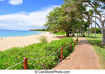 Kaanapali beach boardwalk