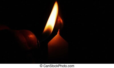 kaarsje, burning