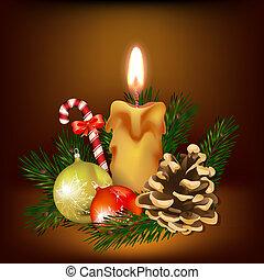 kaarsje, kerstmis