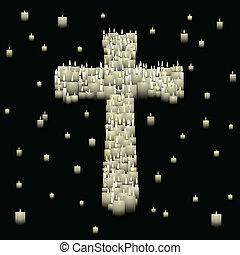 kaarsje, kruis