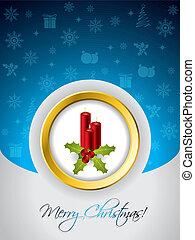 kaarsjes, kerstmis kaart, groet