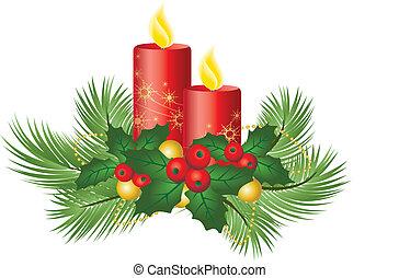 kaarsjes, kerstmis