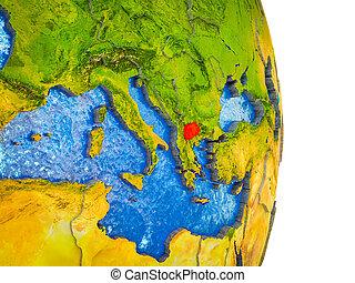 kaart, 3d, macedonië, aarde