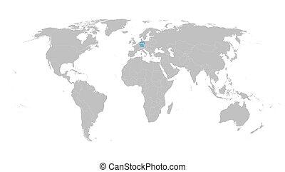 kaart, aanwijzing, duitsland, wereld