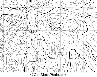 kaart, abstract, topographical, namen, nee