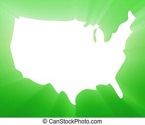 kaart, amerika