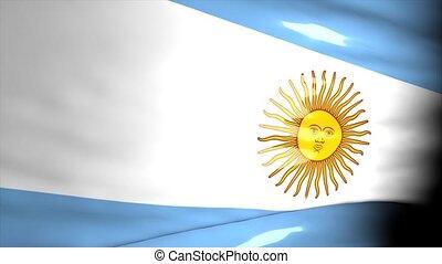 kaart, argentinië, crisis