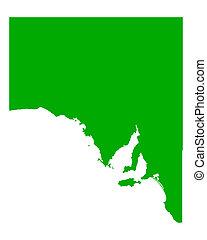 kaart, australië, zuiden