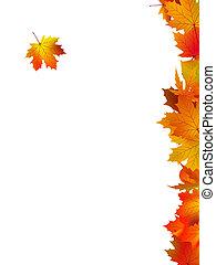 kaart, bladeren, danken, achtergrond, u