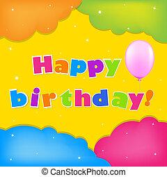 kaart, gelukkige verjaardag