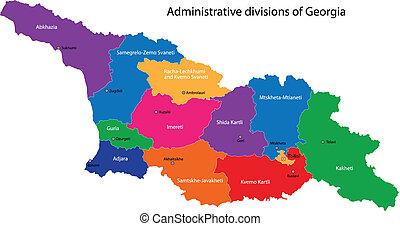 kaart, georgië