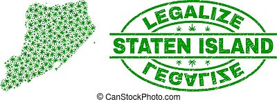 kaart, grunge, postzegel, eiland, bladeren, legalize,...