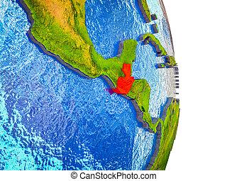 kaart, guatemala, 3d, aarde