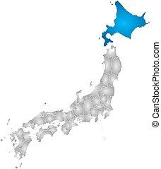 kaart, -, hokkaido, japan