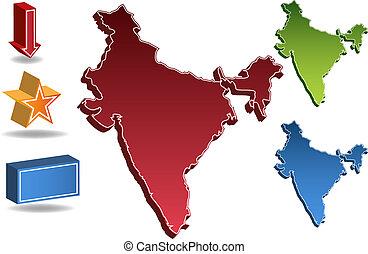 kaart, india