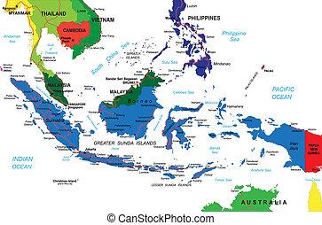 kaart, indonesie