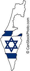 kaart, israël
